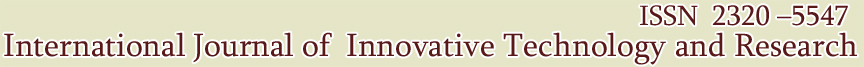 International Journal of Innovative Technology and Research